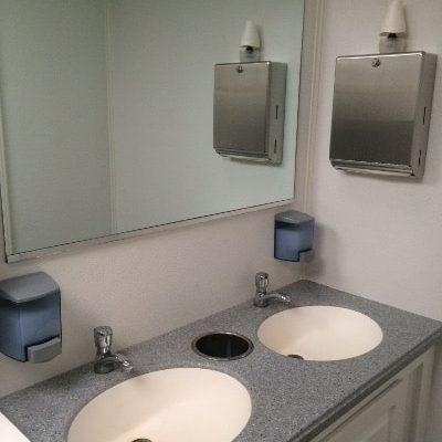Restroom Trailer Dual Sinks