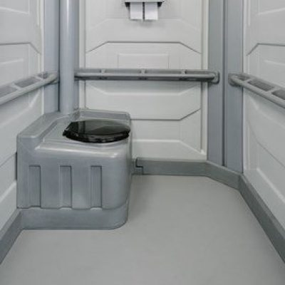 wheelchair accessible portable toilets inside view