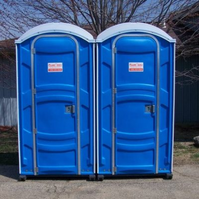 porta potty stand alone unit blue