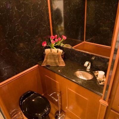restroom trailers black toilet