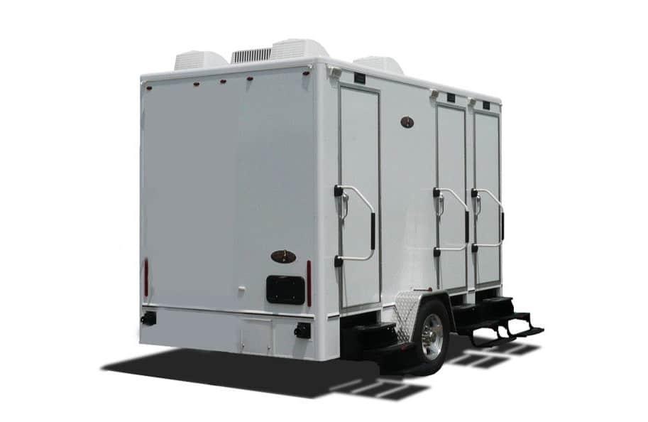 Portable restroom trailers restroom trailer rentals for Portable bathroom trailers